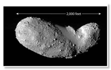 Itokawa Peanut Asteroid zoom